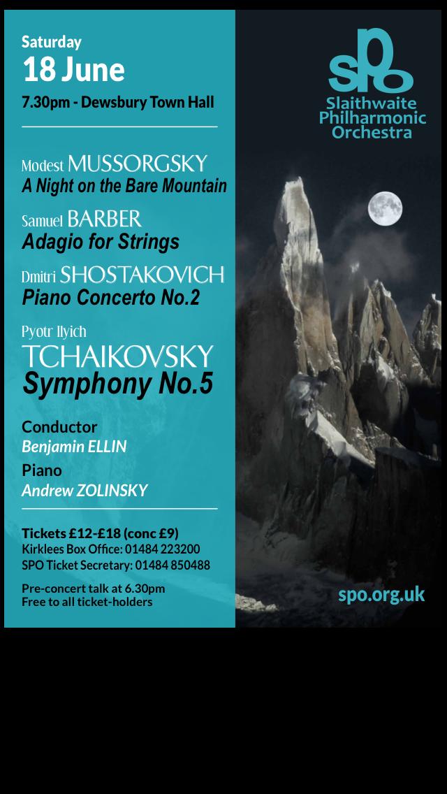 Shostakovich, Tchaikovsky, Mussorgsky with Slaithwaite